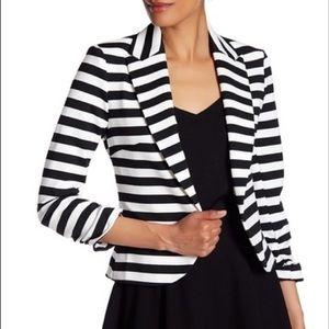 Amanda & Chelsea B/W Striped Blazer Jacket